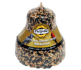 Cloche de grains fruits et noix or 454 g