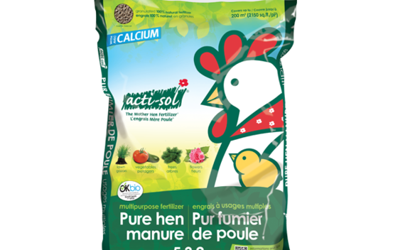 Engrais naturel à usages multiples (pur fumier de poule) 5-3-2 - 10 kg Acti-sol